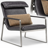 Industrial Chic Emilio Brown Leather Lounge Chair