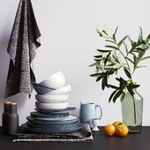 Decorative set for the kitchen, Вroste copenhagen