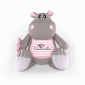 Hippopotamus with umbrella