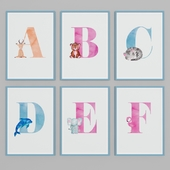 """Selection of pictures """"Letters"""""""