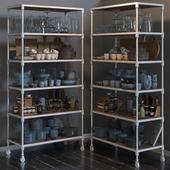 RH DUTCH INDUSTRIAL SINGLE SHELVING and kitchen set