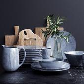 Set of Crown Copenhagen Nordic Sand Cookware