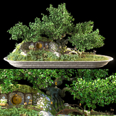 Bonsai in the style of the Hobbit