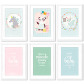 A series of posters for the design of a children's room.