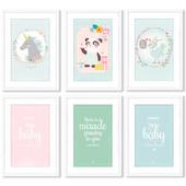 Серия постеров для оформления детской комнаты.