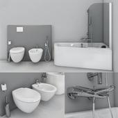 Jacob Delafon. Bath Odeon Up, toilet and bidet Presquile