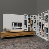 Cabinet and Cantiero shelving