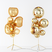 Ball Stand Chandelier Gold