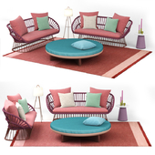 kettal cala 3 place sofa