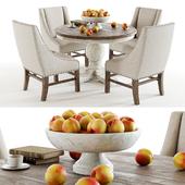 Curation Limited Round Trestle Vintage table set