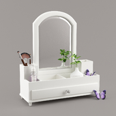Organizer for cosmetics Chloe Beauty Storage with Mirror, from PBteen