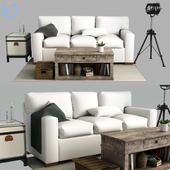 Pottery barn Buchanan Square Arm Upholstered Sofa