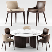 Cleo chairs and Ala table - MisuraEmme