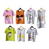Набор детских футболок на плечиках (набор 1)