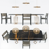 Twelve table, Empire chair, Rea lamp by Paolo Castelli