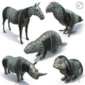 5 animal sculptures 01