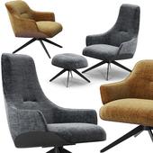 Molteni Kensington armchairs set