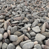 Road from sea pebbles