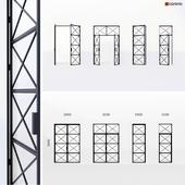Metal door in Loft style 8