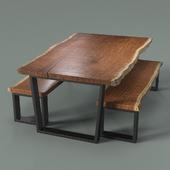 Table and bench slab Bubinga