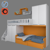 Мебель для детской SOPPALCHI KIDS от MORETTICOMPACT