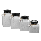 Young's 4 Piece Ceramic Country Canister Set