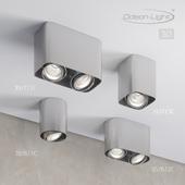 Ceiling surface lighting fixture ODEON LIGHT 3576 / 1C, 3576 / 2C, 3577 / 1C, 3577 / 2C MONTALA