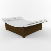 Lounger from artificial rattan Lounge LSG-14