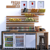 Juice Bar 02 with Polar Fridge CD080 and CD086