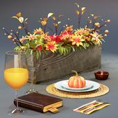 Autumnal serving with pumpkin