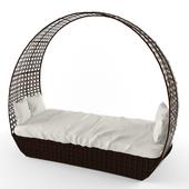 Sofa-chaise longue braided KM 0205 Kvimol