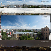 Panoramas of Moscow from the region of Khamovniki. 4 photos