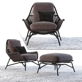 "Minotti Prince ""Cord"" Indoor Chair"