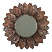 Surya helios champagne wall mirror