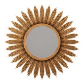 Surya hopkins aged gold decorative mirror
