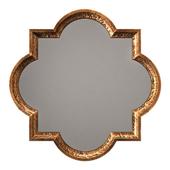 Uttermost lourosa antique gold mirror