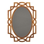 Uttermost margutta forged metal with antiqued gold leaf oval mirror