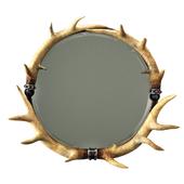 Uttermost stag horn mirror