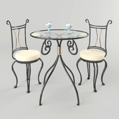 Set of forged furniture