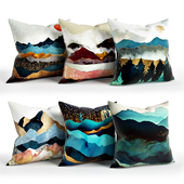 Mountains_Pillow_Set_Society6