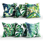 Leaves_Pillow_Set_Society6