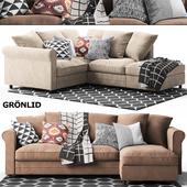 Gronlid Corner sofa, With chaise longue Ikea / Икеа