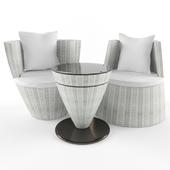 Rattan rest furniture White Status SSG-20
