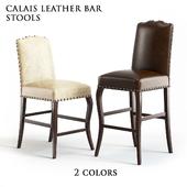 Pottery Barn Calais Leather Barstool