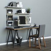 Workplace table ikea LINNMON / ODVALD