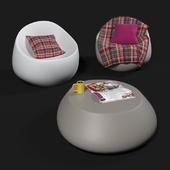 Vondom Stones armchairs and coffee table