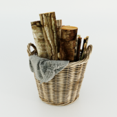 Basket with firewood