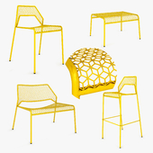 Blu Dot Hot Mesh collection set lounge chair bar stool ottoman
