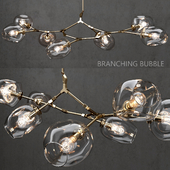 Branching bubble 7 lamps by Lindsey Adelman CLEAR / GOLD