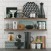 Kitchenware with decor
